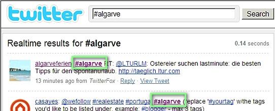 Algarve Hashtag
