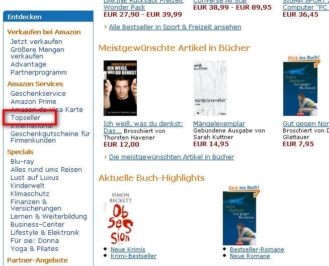 Amazon Topseller