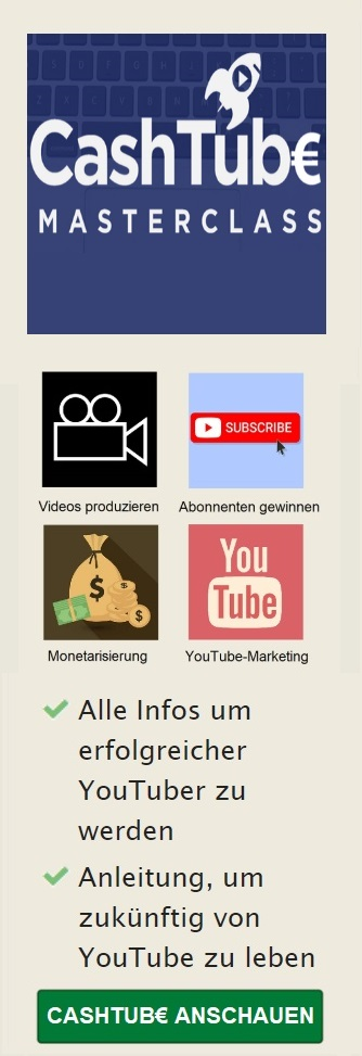 Cashtube Masterclass mobile Banner