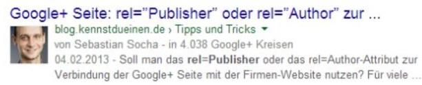Google Autorenbild