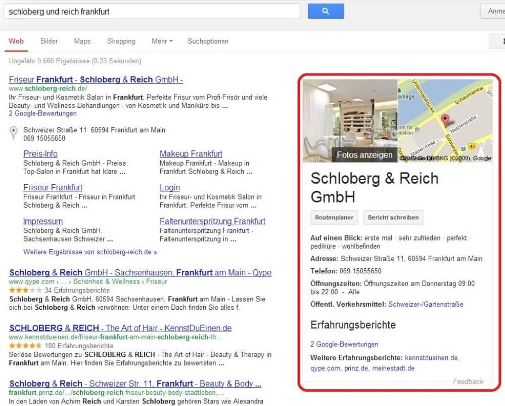 Google Knowledge Graph Schloberg & Reich