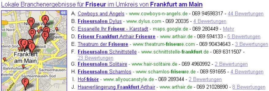 Google Maps Beispiel