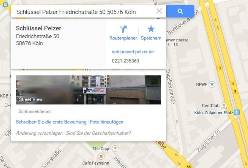 Google Maps Firma