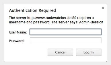 htaccess Passwort Abfrage