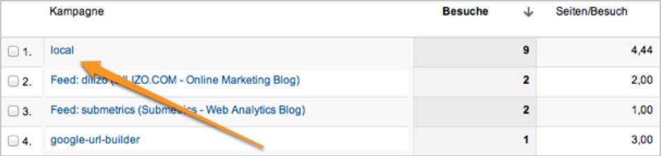 Local Search Google Analytics