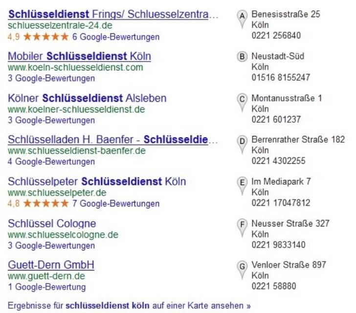 Lokale Suche Ranking