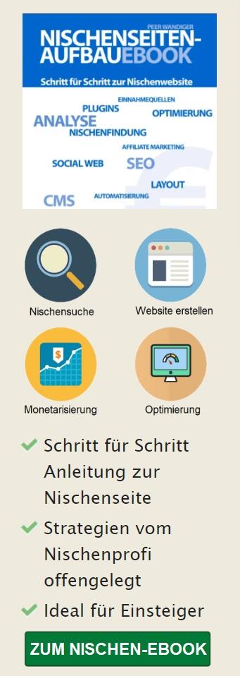 Nischenseiten Ebook mobile Banner
