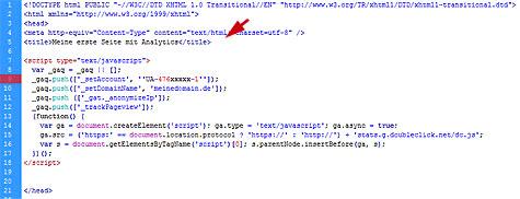 Quellcode für Analytics