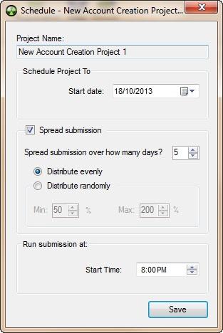 Senuke X Schedule