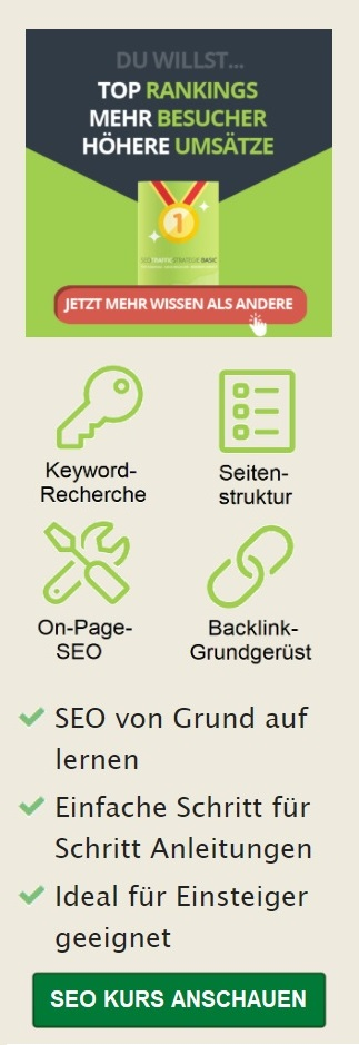 SEO Traffic Strategie mobiler Banner